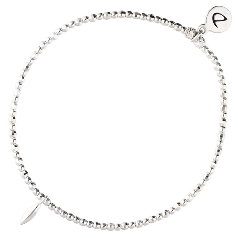 Bracelet élastique Argent PETITE GOUTTE - Perles & Goutte design - DORIANE Bijoux