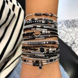 Composition de bracelets Doriane bijoux façon manchette