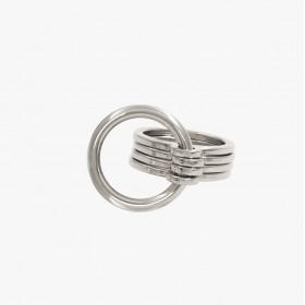 Bague Large ROUNDS métal - Anneaux & Décor anneau rond design - CXC