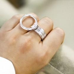Bague Large ROUNDS métal - Anneaux & Décor anneau rond design TAILLE 58