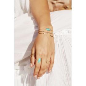 Collections bijoux BDM Studio - Bracelet Agathe turquoise