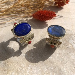 Lapis Lazuli Perles rouge ou Labradorite Perles orange ?