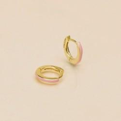 Boucles d'oreilles mini créoles PASSION dorées - Email Rose