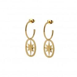 Boucles d'oreilles Créoles doré BUBBLE STAR - Etoile scintillante - LOVELY DAY