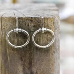 Boucles d'oreilles MORS métal - Pendants Tubes & Anneaux ovales