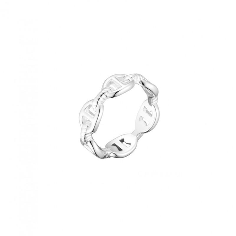 Bague anneau en argent - Maille marine & Ponts CANYON
