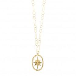 Collier Sautoir BUBBLE STAR doré - Chaîne & Pendentif étoile LOVELY DAY