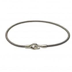 Bracelet Homme HOOK - JONC en corde de basse argent vieilli - SING A SONG