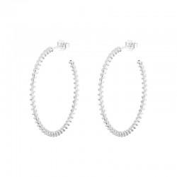 Boucles d'oreilles Créoles en argent décorées spirales - 4 cm CANYON