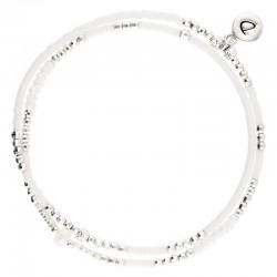 Bracelet multitours élastiqué SPRING argent - Perles Opalines signé Doriane Bijoux