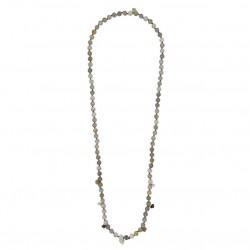 Collier sautoir doré - Agates & Pendentifs pierres antiques signé JORGINA
