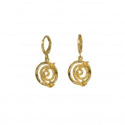 Boucles d'oreilles mini créoles - Anneau & serpent brillant signées JORGINA