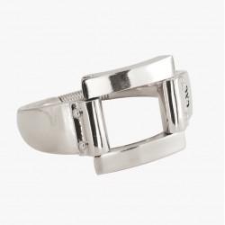 Bracelet Jonc CLIP Argent & Décor Boucle design - 2 tailles - CXC