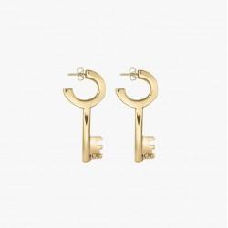 Boucles d'oreilles CLE Or - Puces & Décor grande Clé design - CXC