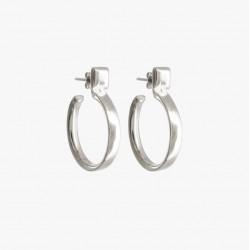 Boucles d'oreilles Carrés Créoles tout métal - CXC