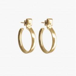 Boucles d'oreilles - Puces Carrées & Créoles dorées CXC