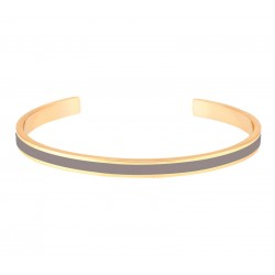 Bracelet jonc ouvert Bangle - Laiton doré & Email Ecorce - Bangle Up
