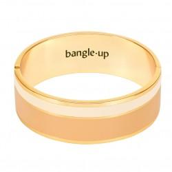Bracelet Jonc VAPORETTO doré - Emaillé camel blanc sable - Bangle Up