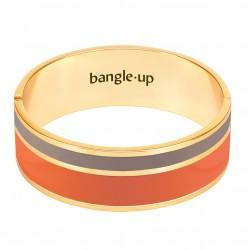 Bracelet Jonc VAPORETTO doré - Emaillé fauve écorce - Bangle Up