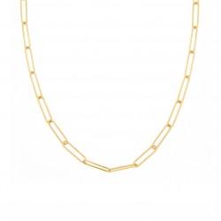 Collier court chaîne PURE dorée - Maillons rectangles XL NILAI PARIS