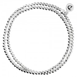 Bracelet élastiqué BOULE 2 rangs - Perle boule & Perles diamantées  - DORIANE Bijoux