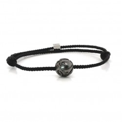 Bracelet Homme ajustable Argent - Cordon tressé & Perle de Tahiti de IKOBA