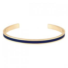 Bracelet jonc semi-ouvert BANGLE UP Bleu nuit